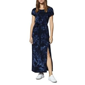 SANCTUARY Isle Tie-Dye Belted T-Shirt Maxi Dress